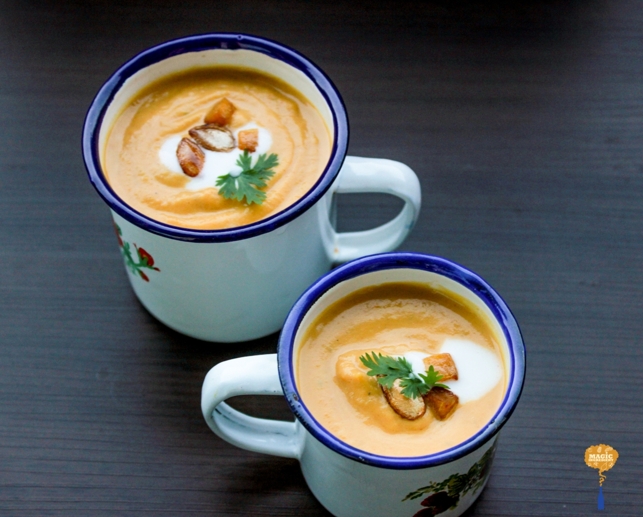 photo of pumpkin soup