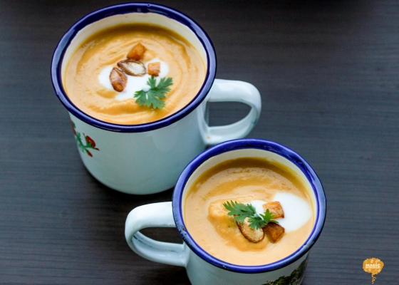 photo of pumpkin soup