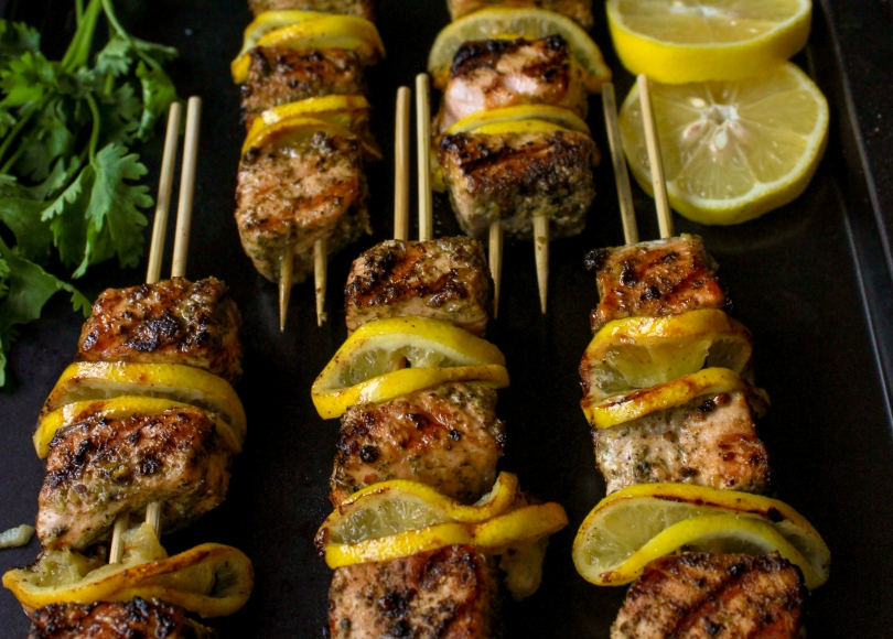 photo of Zaatar Salmon Kebab
