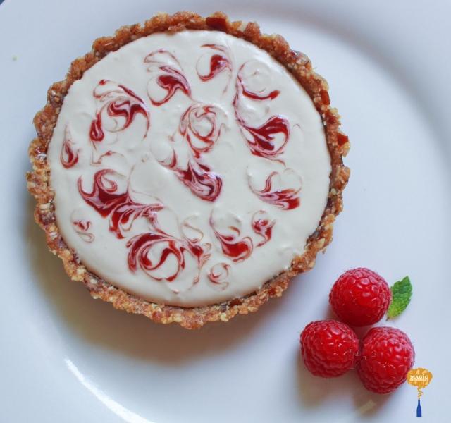 photo of Raspberry Swirl Coconut Cream Tart