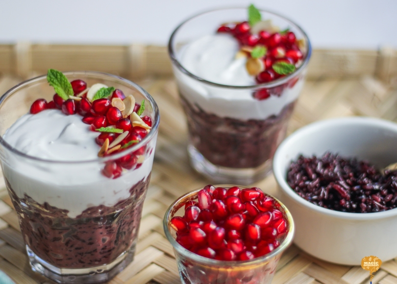 photo of Black Rice Pudding Parfait