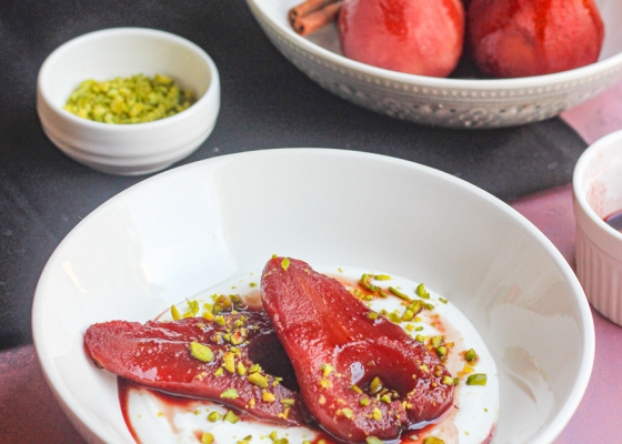 photo of Hibiscus Poached Pears