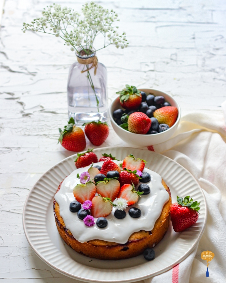 Photo of Cake with Frozen Berries
