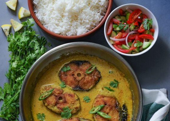 photo of Fish in Mustard Curry