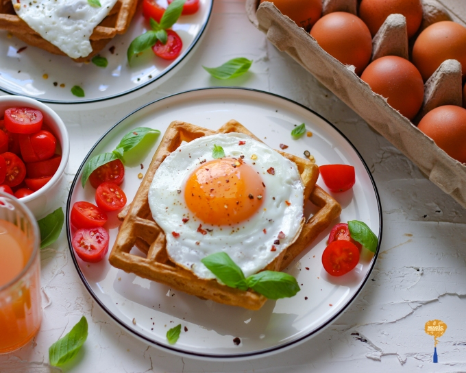 Photo of Waffle with Eggs