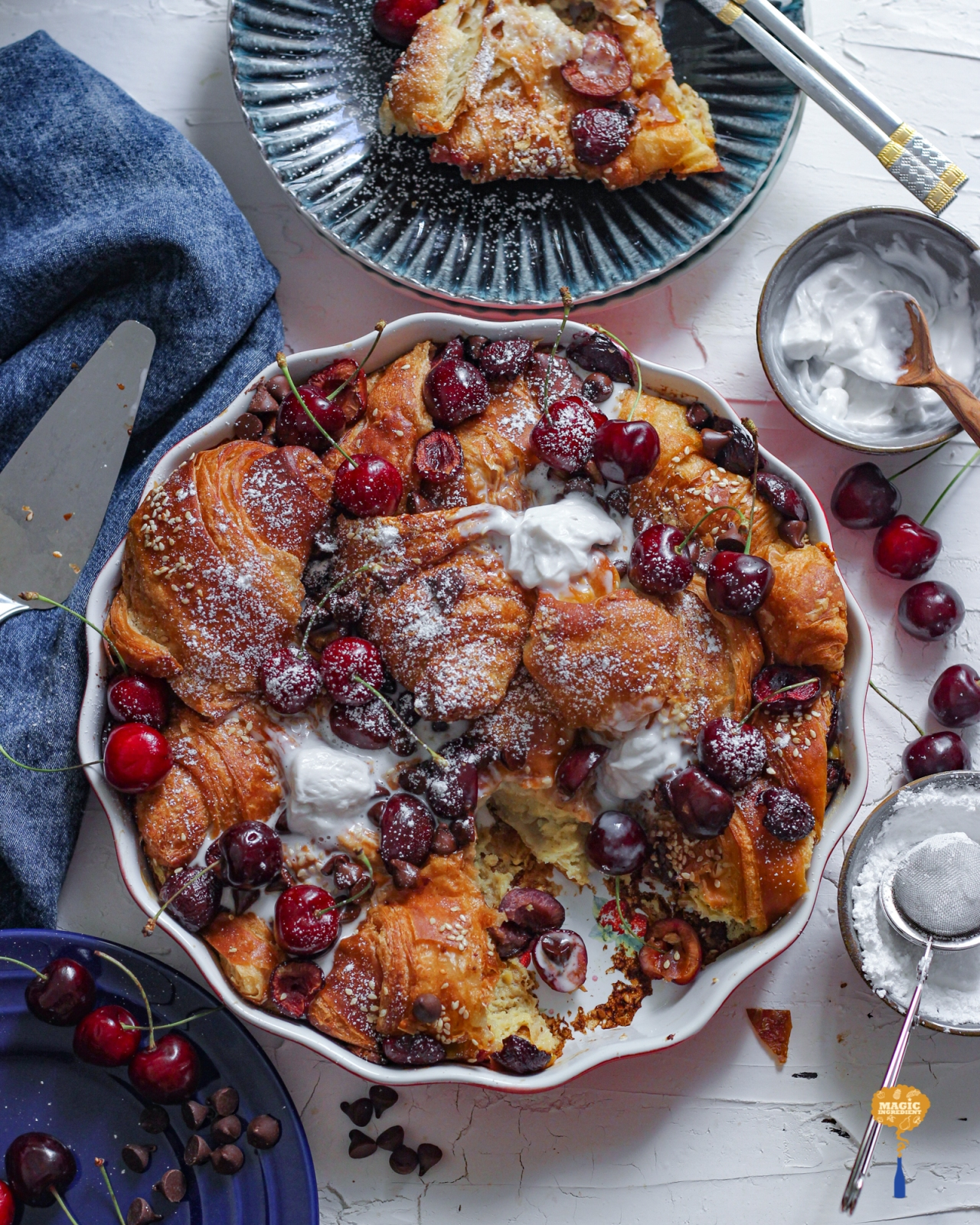Photo of Baked French toast with croissant