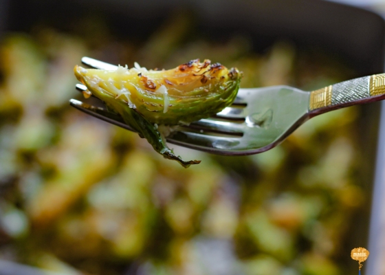 Photo of Baked Brussels Sprouts with Parmigiano Reggiano