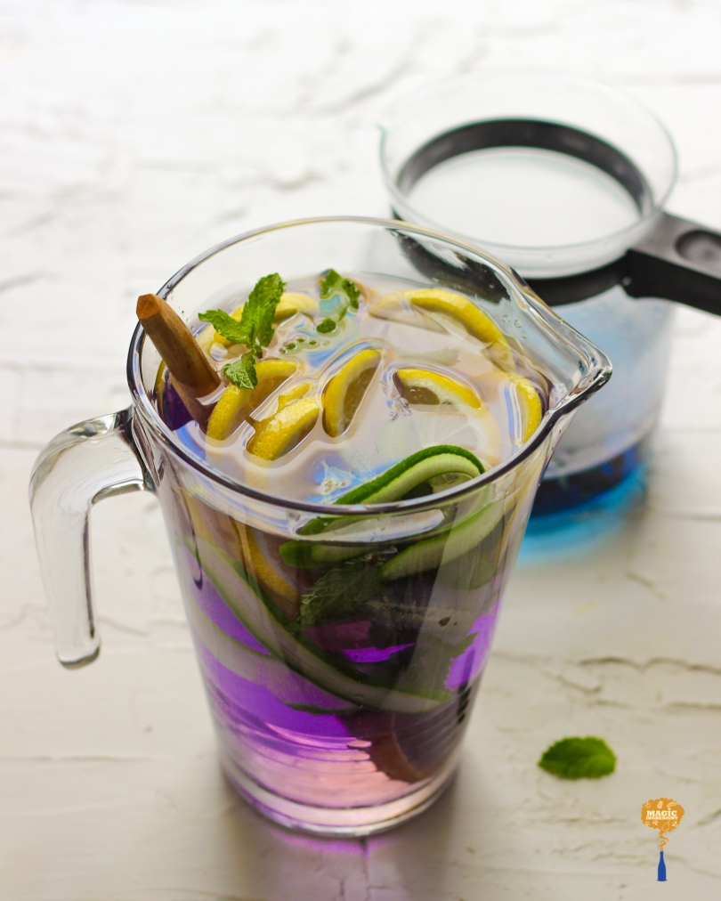 Photo of Butterfly pea blue tea infused water
