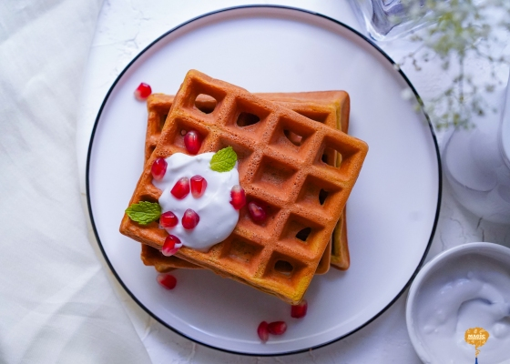 photo of Beetroot Waffles