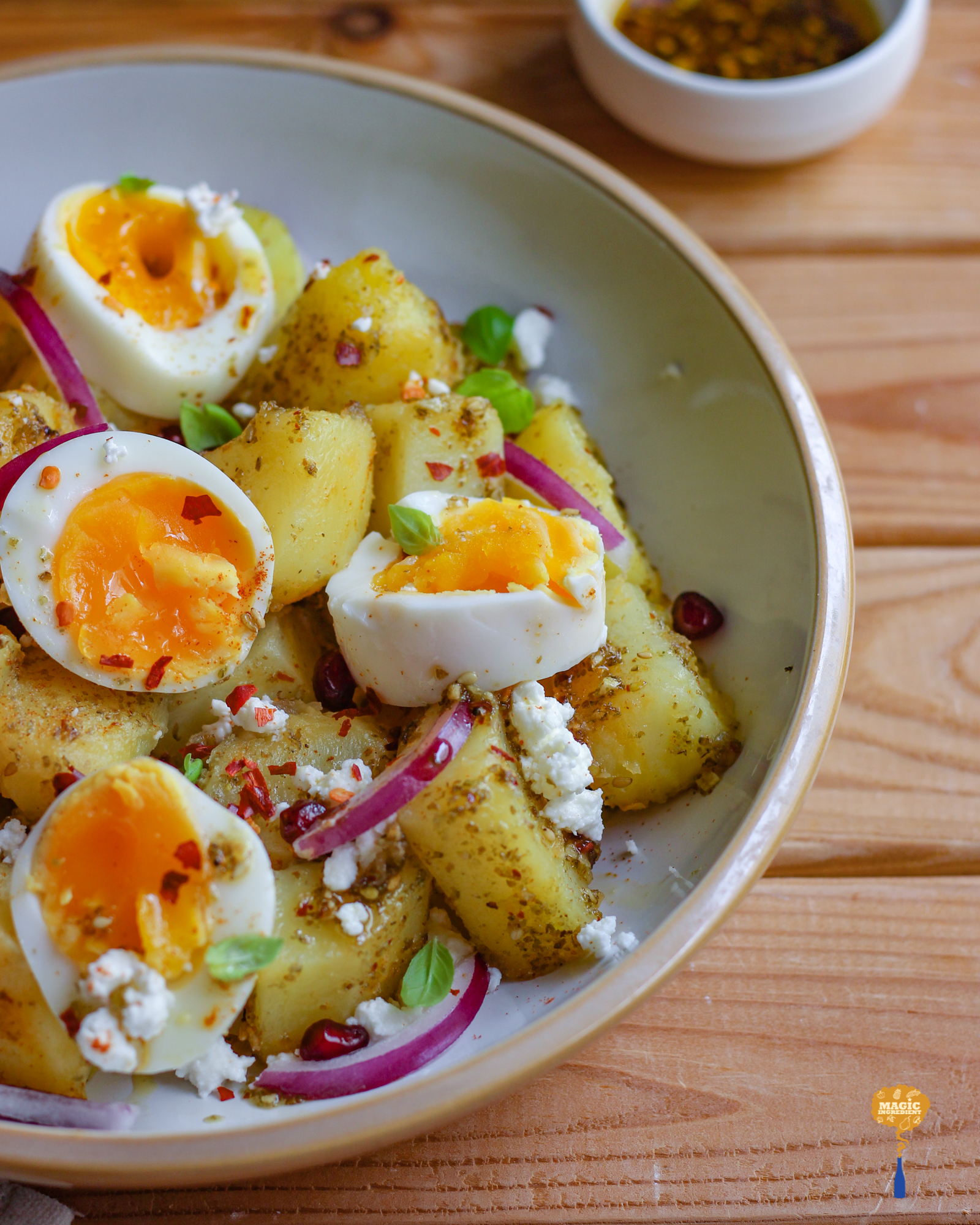 Photo of Potato Egg Salad with Zaatar Dressing