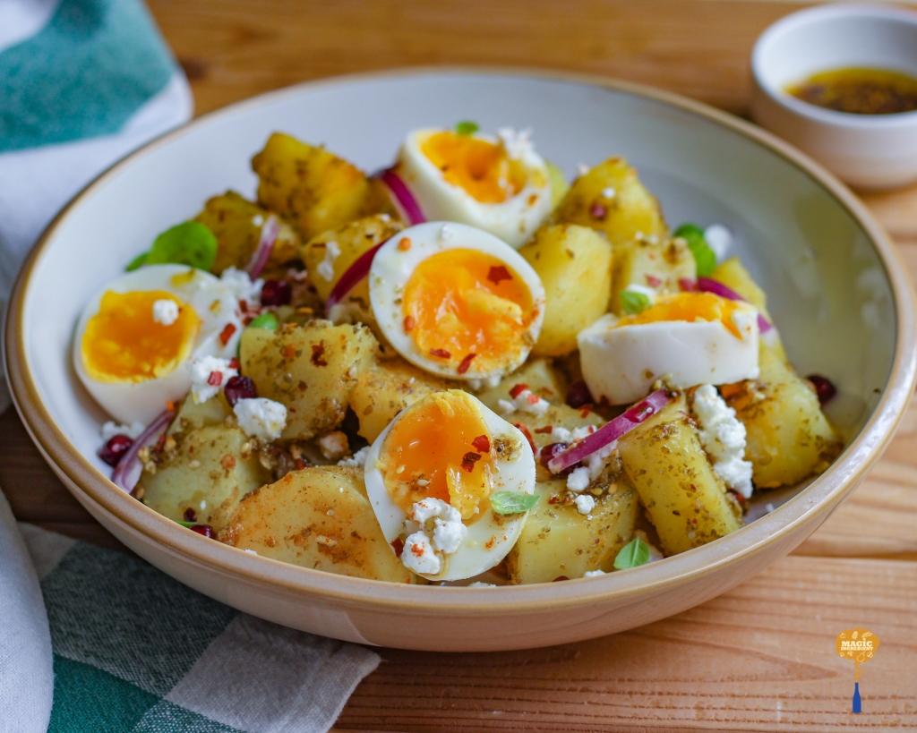 Photo of Potato Egg Salad with Zaatar Dressing