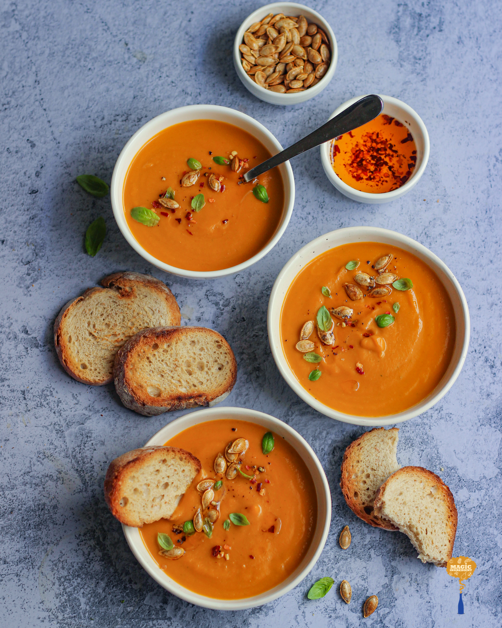 Photo of Butternut Squash Basil Coconut Soup
