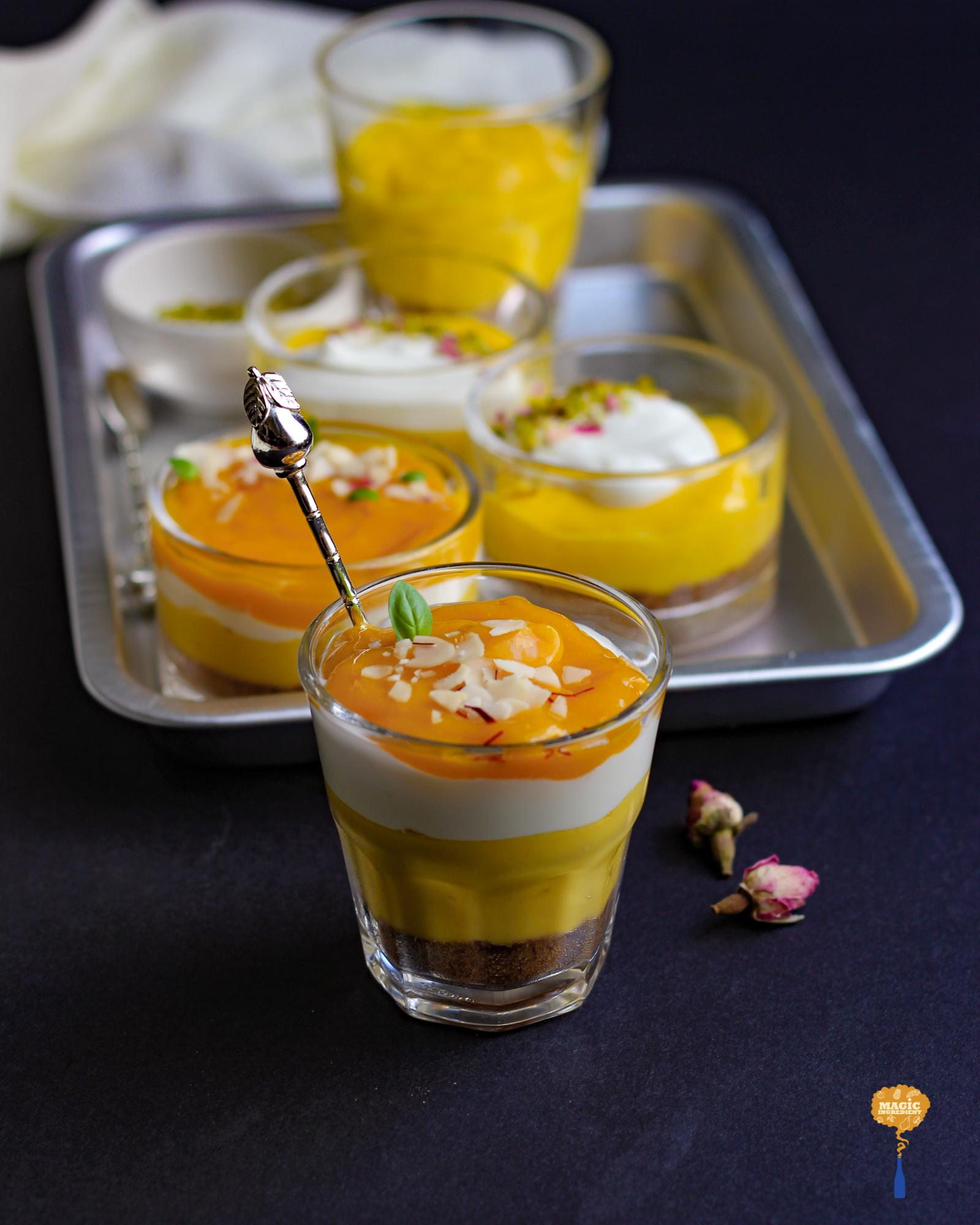 photo of Mango yogurt cheesecake