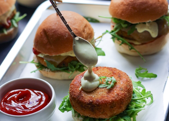 photo of Paneer tikki burgers
