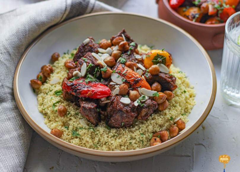 photo of Beef and sweet peppers tagine
