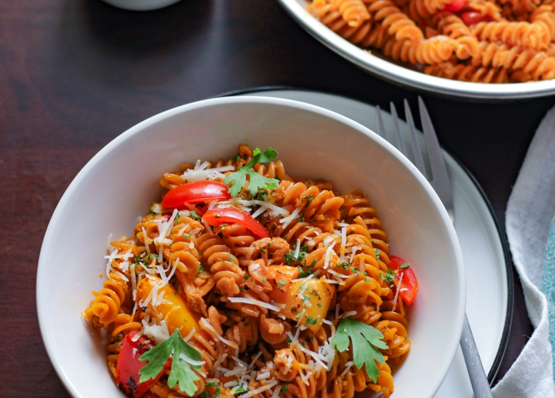 photo of Pasta with tuna and sweet peppers