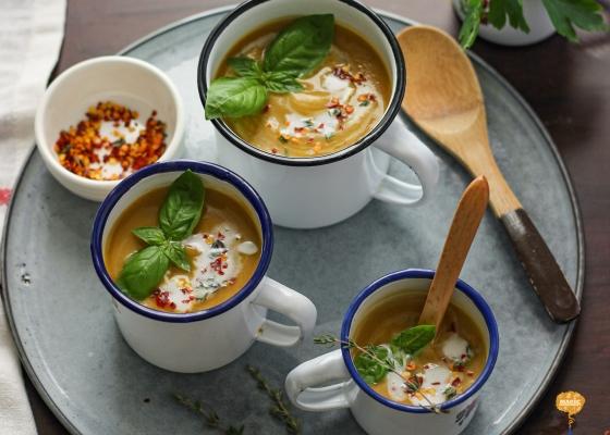 Photo of Herb-roasted Sweet Potato soup