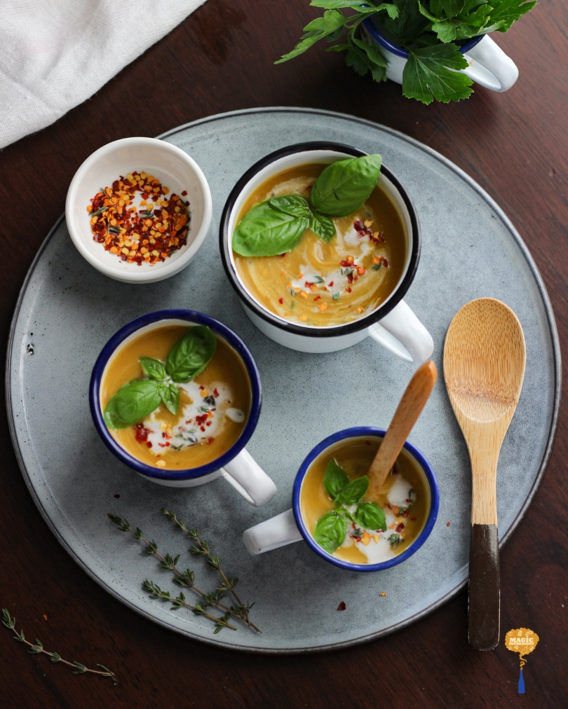 Photo of Herb-roasted Sweet Potato soup