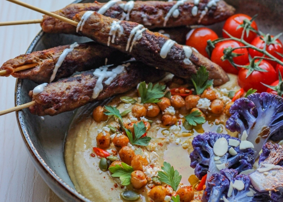 photo of Hummus Bowl Purple Cauliflower
