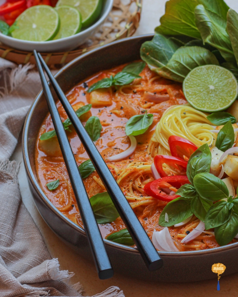 Thai red curry with Indian cottage cheese